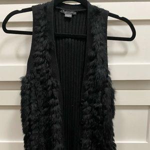 AX faux fur black vest